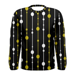 yellow, black and white pattern Men s Long Sleeve Tee