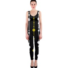 yellow, black and white pattern OnePiece Catsuit