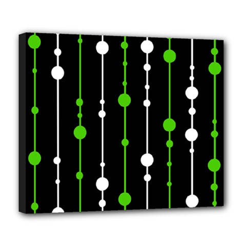 Green, white and black pattern Deluxe Canvas 24  x 20