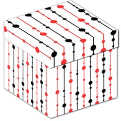 Red, black and white pattern Storage Stool 12