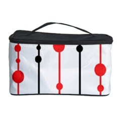 Red, black and white pattern Cosmetic Storage Case