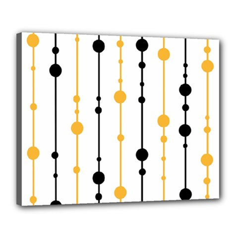 Yellow, black and white pattern Canvas 20  x 16