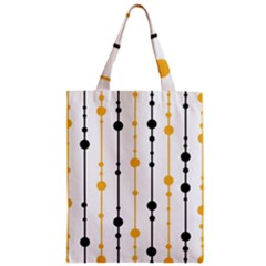 Yellow, black and white pattern Zipper Classic Tote Bag