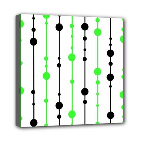 Green pattern Mini Canvas 8  x 8