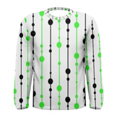 Green pattern Men s Long Sleeve Tee