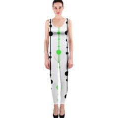 Green pattern OnePiece Catsuit
