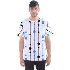 Blue, white and black pattern Men s Sport Mesh Tee