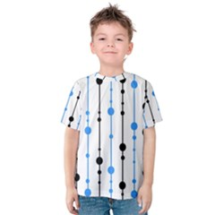 Blue, white and black pattern Kid s Cotton Tee