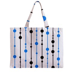 Blue, white and black pattern Zipper Mini Tote Bag