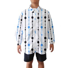 Blue, white and black pattern Wind Breaker (Kids)