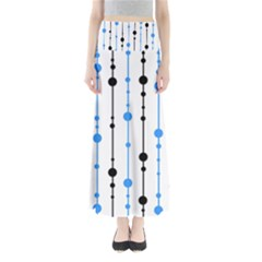 Blue, white and black pattern Maxi Skirts