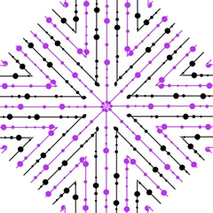 Purple, white and black pattern Folding Umbrellas
