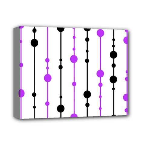 Purple, white and black pattern Deluxe Canvas 14  x 11