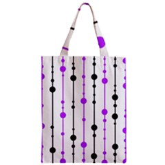 Purple, white and black pattern Classic Tote Bag