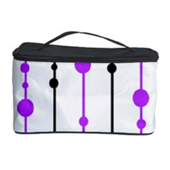 Purple, white and black pattern Cosmetic Storage Case