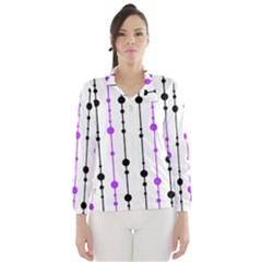 Purple, white and black pattern Wind Breaker (Women)