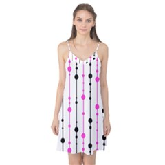 Magenta, black and white pattern Camis Nightgown