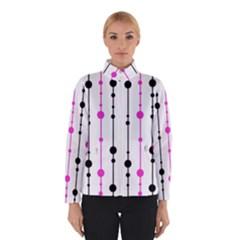 Magenta, black and white pattern Winterwear