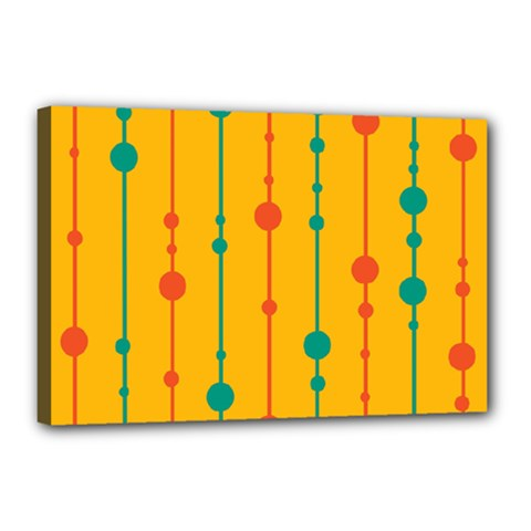Yellow, green and red pattern Canvas 18  x 12