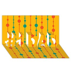 Yellow, green and red pattern #1 DAD 3D Greeting Card (8x4)