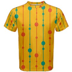 Yellow, green and red pattern Men s Cotton Tee