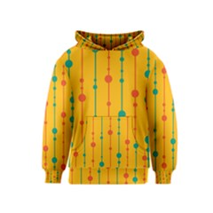 Yellow, green and red pattern Kids  Pullover Hoodie
