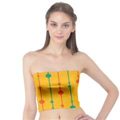 Yellow, green and red pattern Tube Top