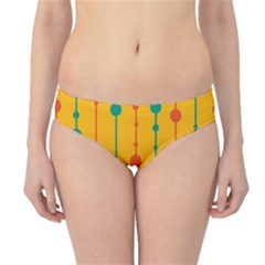 Yellow, green and red pattern Hipster Bikini Bottoms