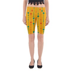 Yellow, green and red pattern Yoga Cropped Leggings