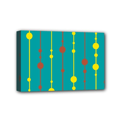 Green, yellow and red pattern Mini Canvas 6  x 4