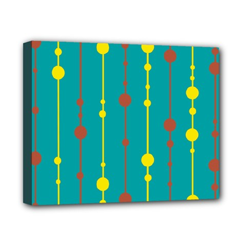 Green, yellow and red pattern Canvas 10  x 8