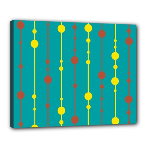 Green, yellow and red pattern Canvas 20  x 16