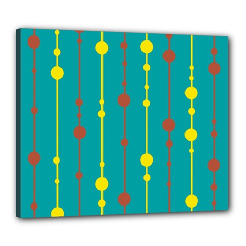 Green, yellow and red pattern Canvas 24  x 20