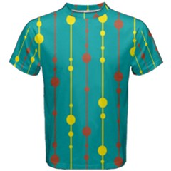 Green, yellow and red pattern Men s Cotton Tee