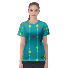 Green, yellow and red pattern Women s Sport Mesh Tee