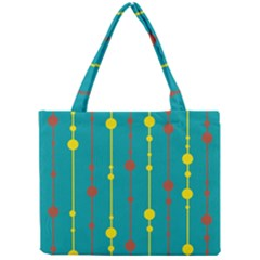 Green, yellow and red pattern Mini Tote Bag