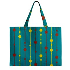 Green, yellow and red pattern Zipper Mini Tote Bag