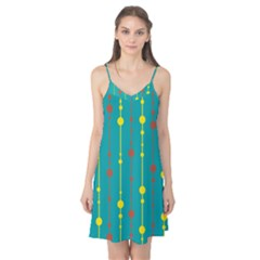 Green, yellow and red pattern Camis Nightgown