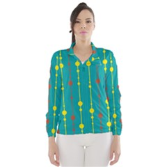 Green, yellow and red pattern Wind Breaker (Women)