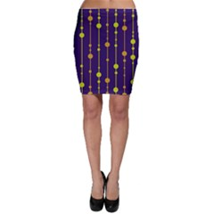 Deep blue, orange and yellow pattern Bodycon Skirt