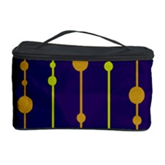 Deep blue, orange and yellow pattern Cosmetic Storage Case
