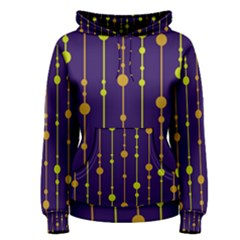 Deep blue, orange and yellow pattern Women s Pullover Hoodie