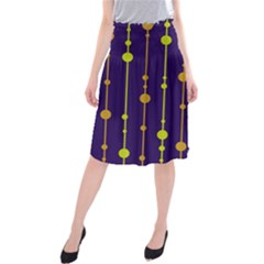Deep blue, orange and yellow pattern Midi Beach Skirt
