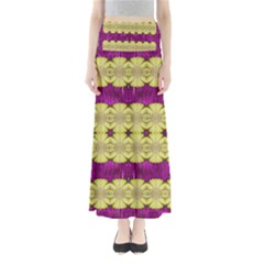 Purple Gold Floral And Paradise Bloom Maxi Skirts