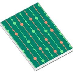 Green pattern Large Memo Pads