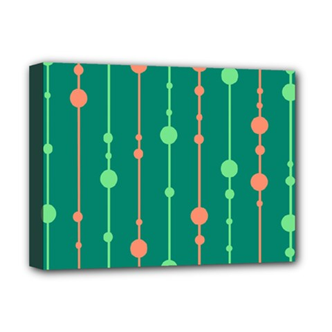 Green pattern Deluxe Canvas 16  x 12