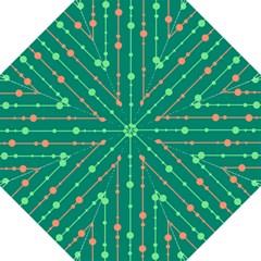 Green pattern Hook Handle Umbrellas (Large)