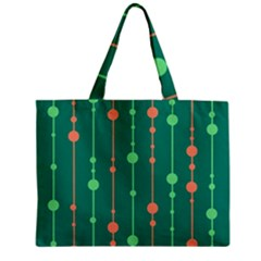 Green pattern Zipper Mini Tote Bag