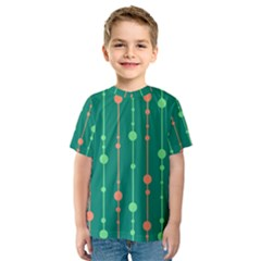 Green pattern Kid s Sport Mesh Tee