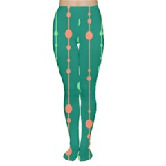 Green pattern Women s Tights